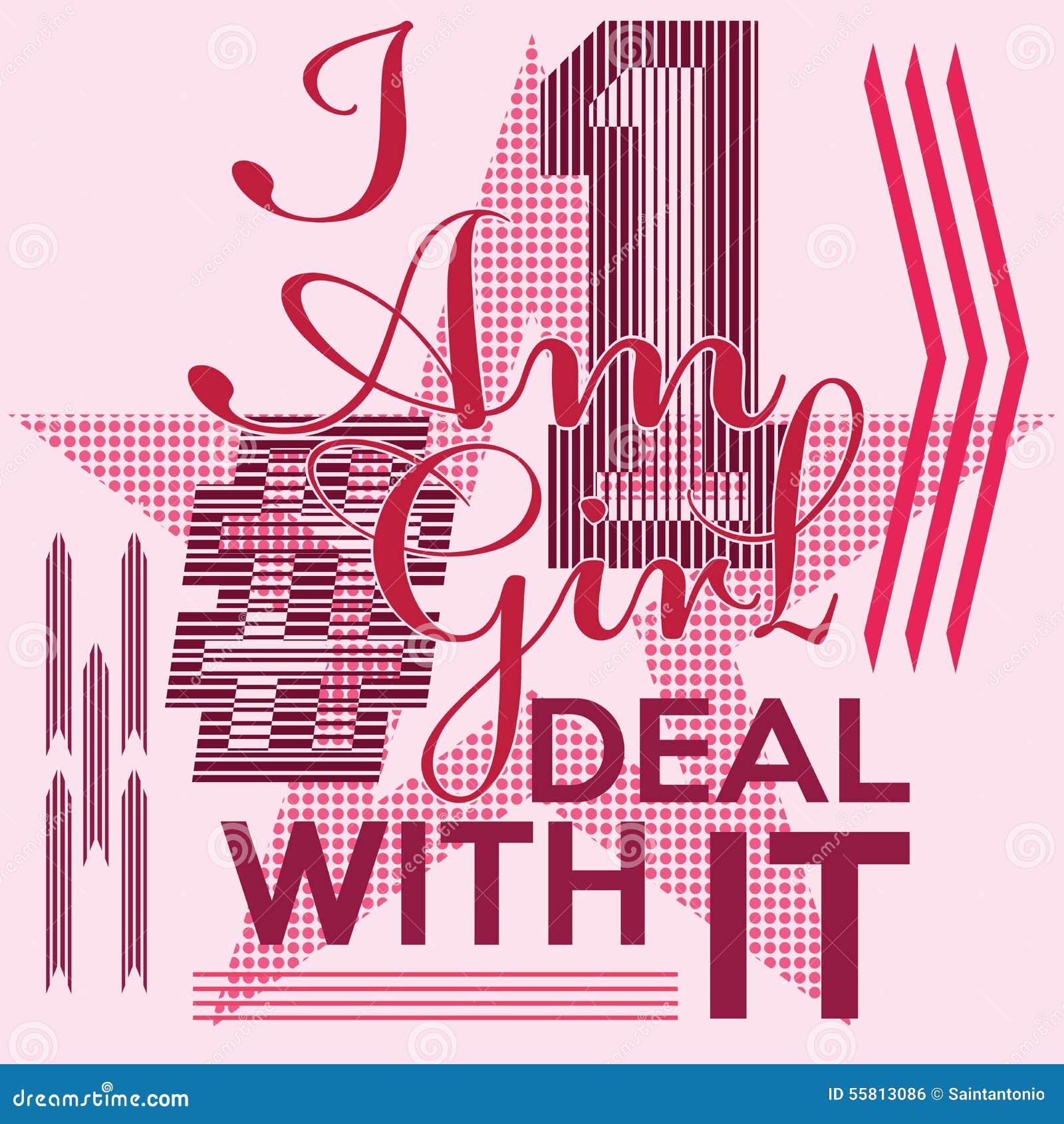 Koszulka druku projekt, typografii grafika wektorowej ilustracyjnej odznaki etykietki Aplikacyjna dziewczyna liczba jeden - sloga