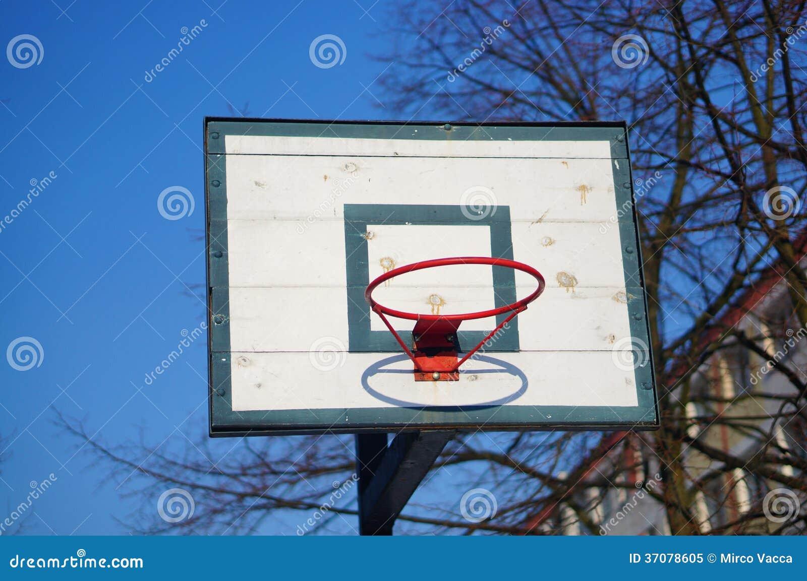Download Koszykówka kosz obraz stock. Obraz złożonej z czerwień - 37078605