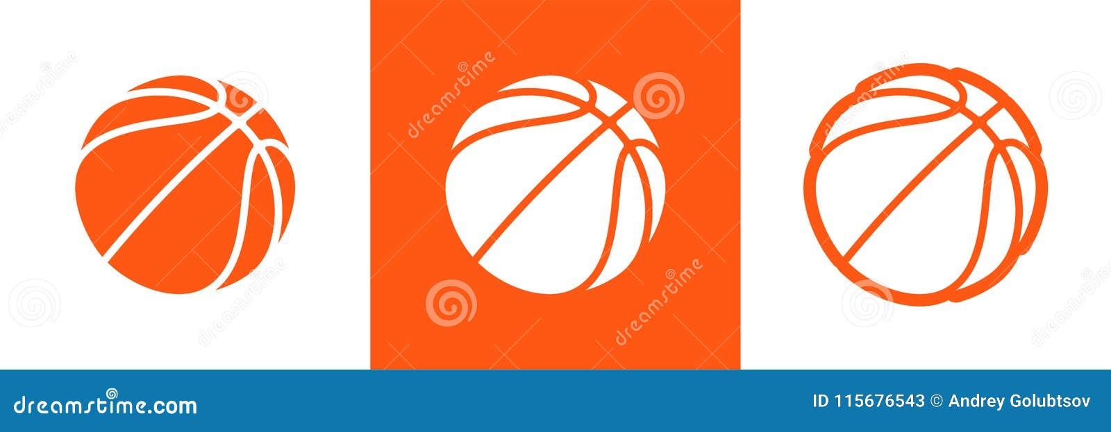 Koszykówka logo ustawiający wektorowa ikona dla streetball mistrzostwa turnieju, szkoły lub szkoła wyższa drużynowego liga, Wekto