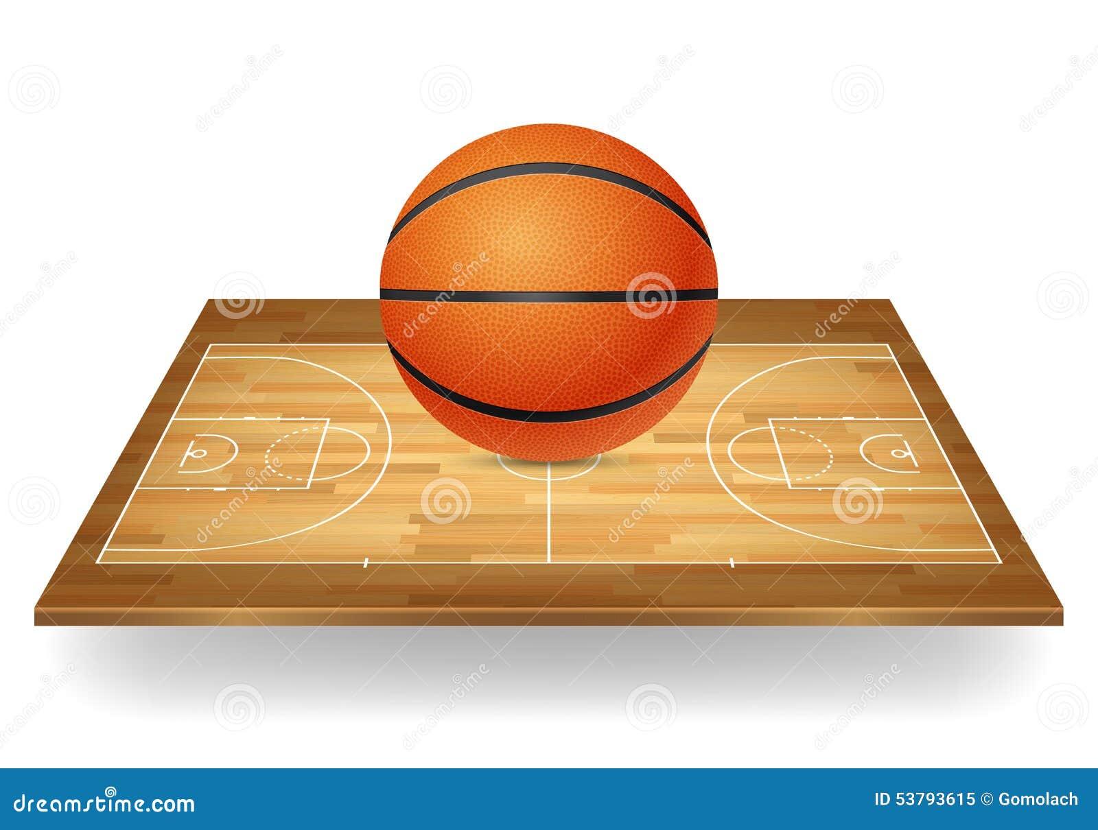 Koszykówka na drewnianym sądzie