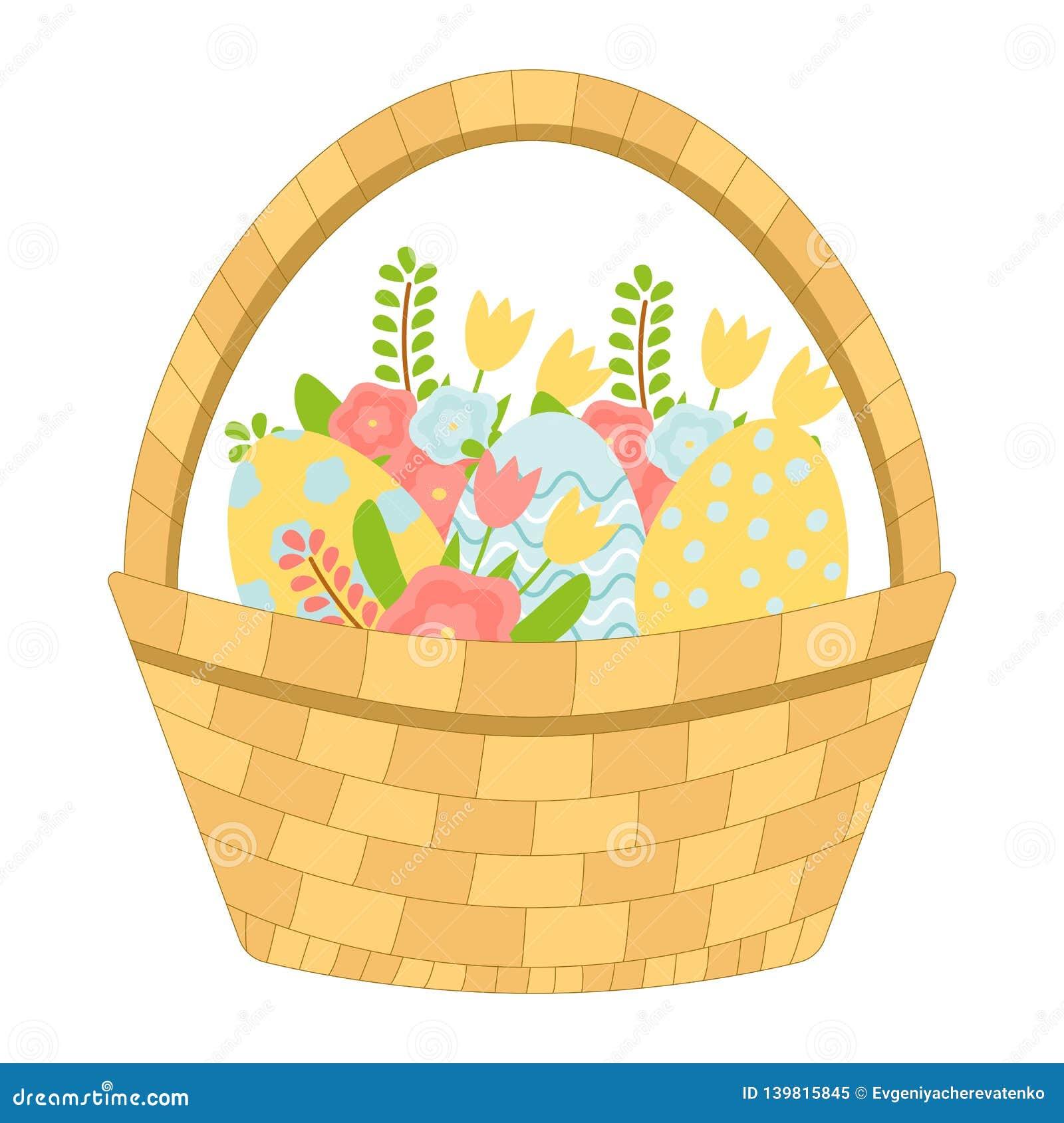 Koszykowa Easter jajek kwiatów wiosna wektor