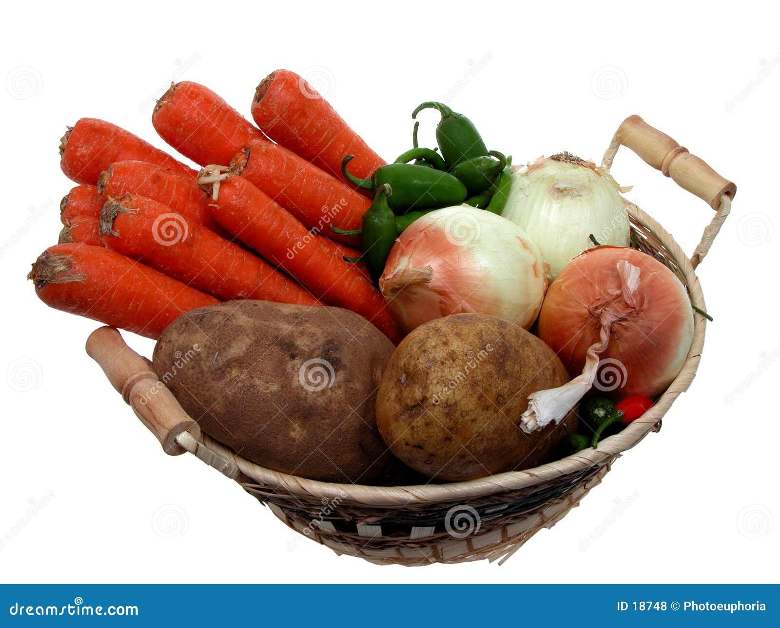 Koszykowy wegetariańskie jedzenie
