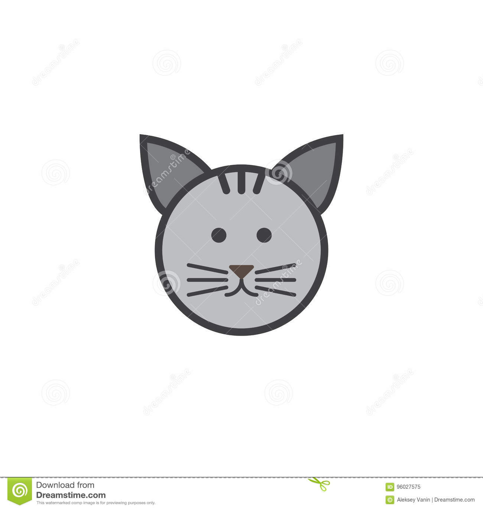 Kot ikony wektor, zwierzę domowe loga stała ilustracja, piktogram odizolowywający
