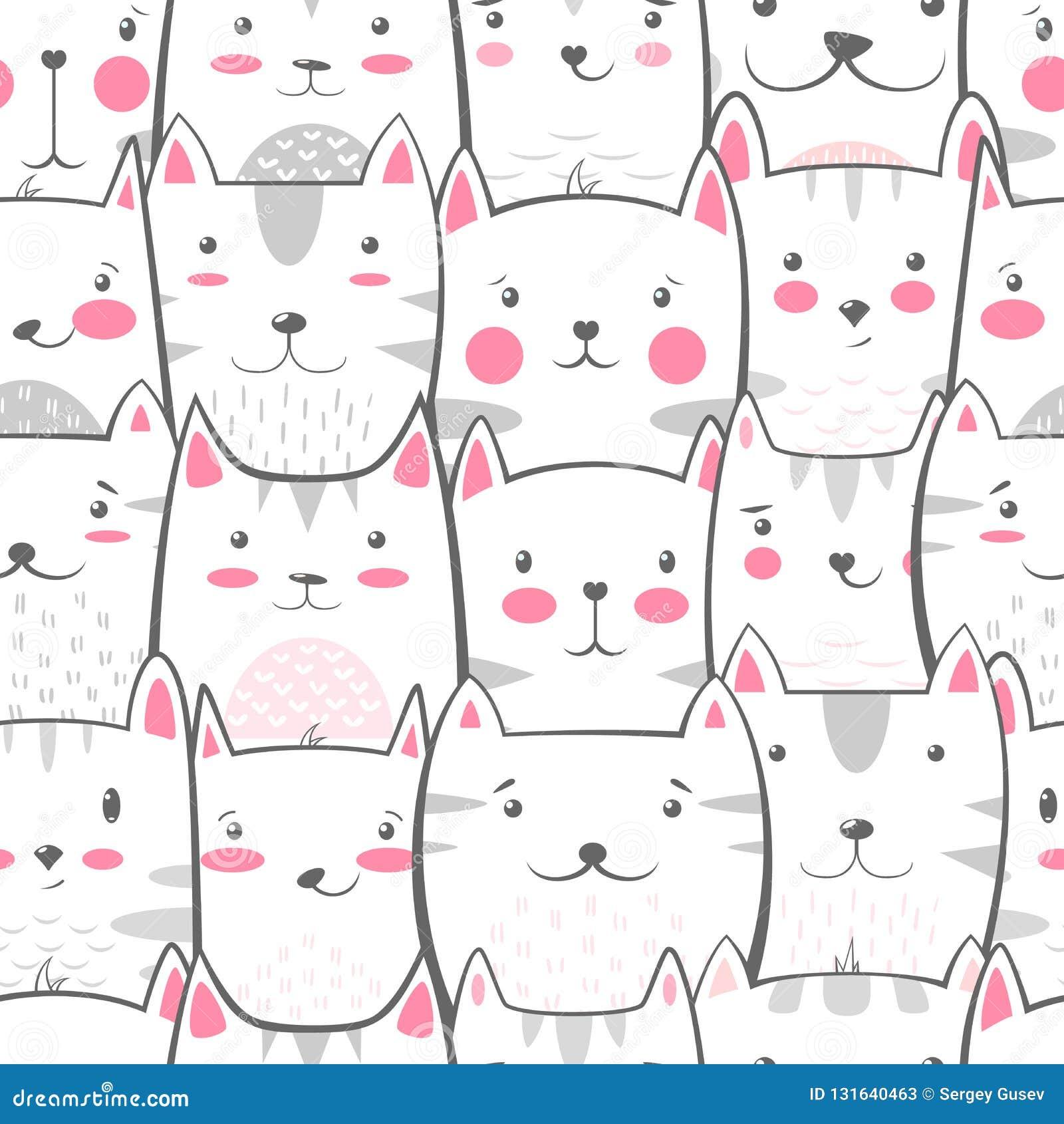 Kot, kiciunia - śliczna, śmieszny wzór