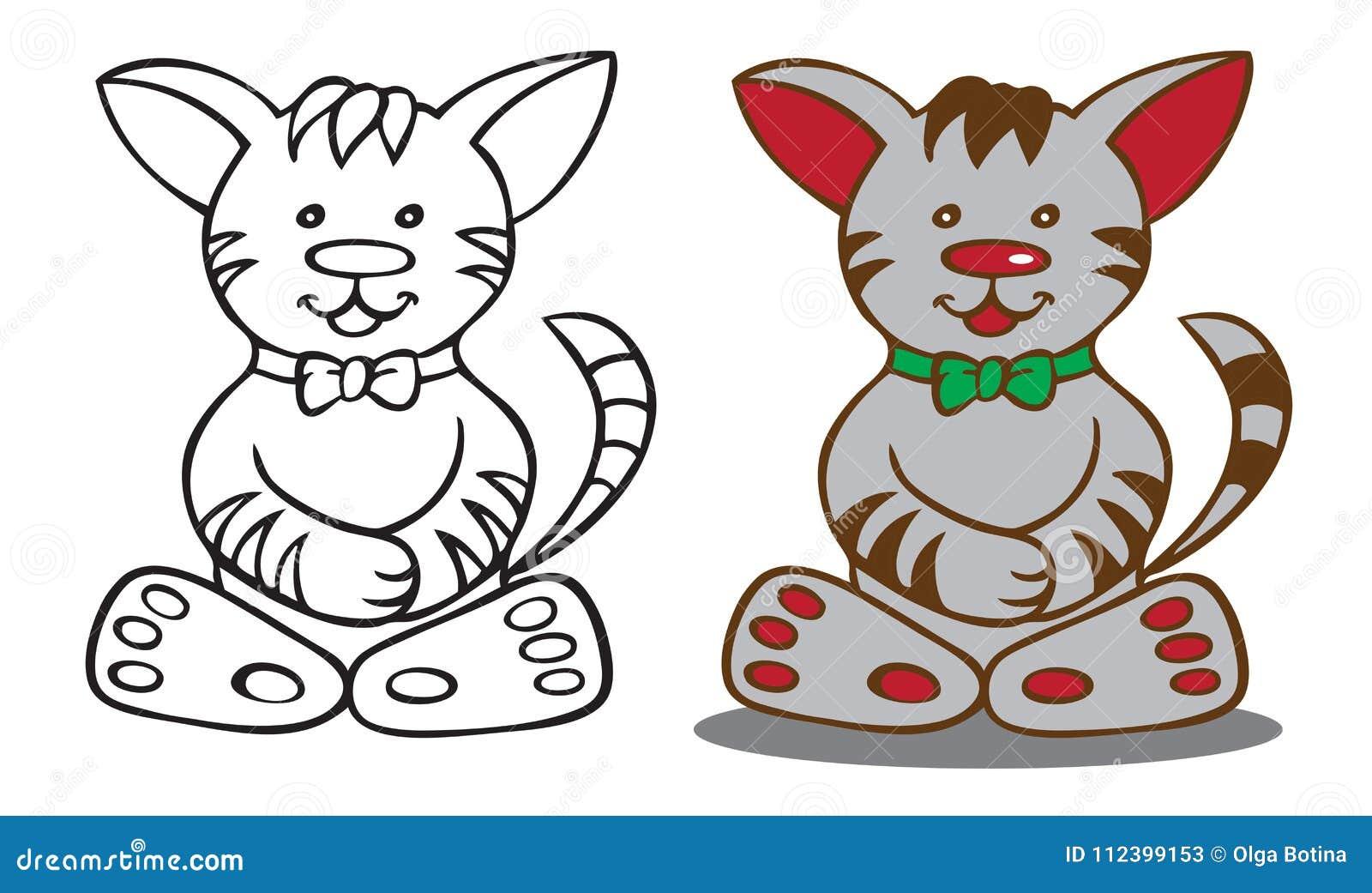 Kot kreskówki ilustracja