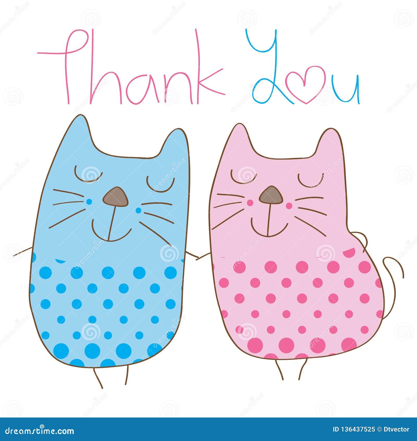 Kot para dziękuje ciebie okładkowego