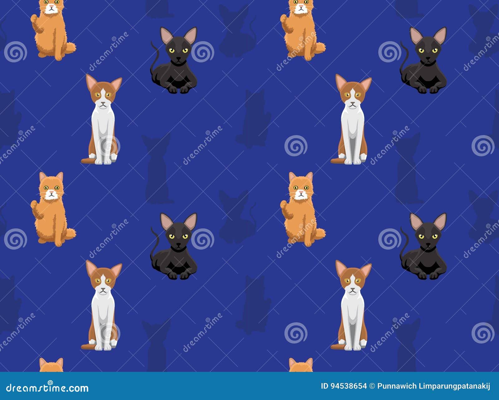 Kot Tapeta 9 Ilustracja Wektor Ilustracja Złożonej Z Domowy 94538654