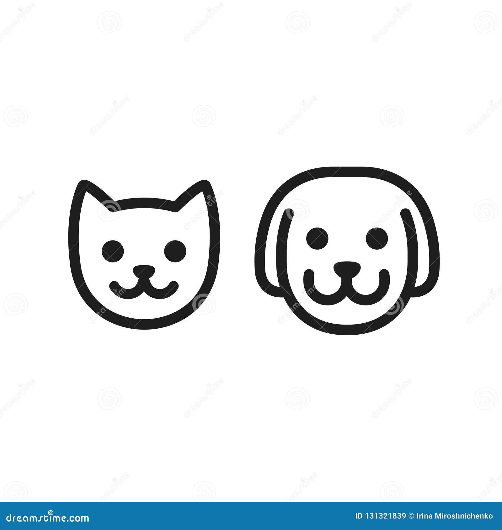 Kota i psa ikona