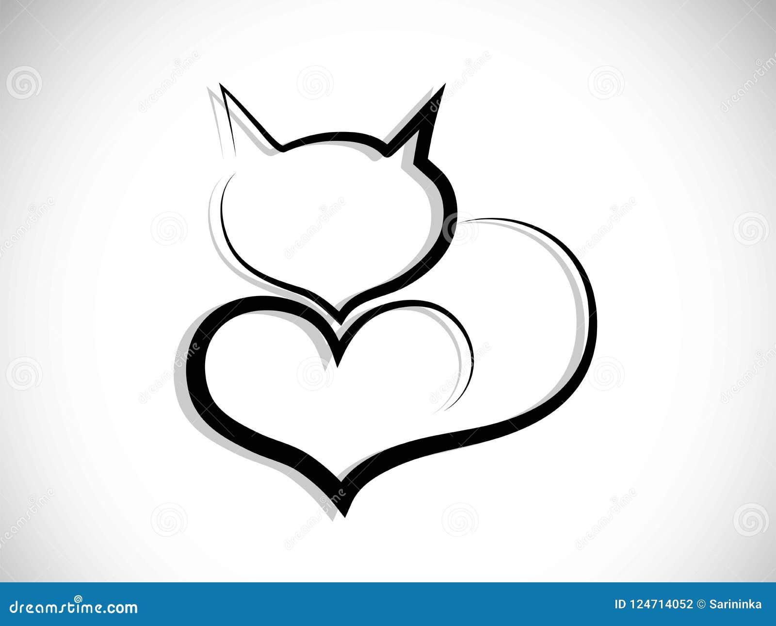 Kota Logo Ilustracja Wektor Ilustracja Zlozonej Z Logo 124714052