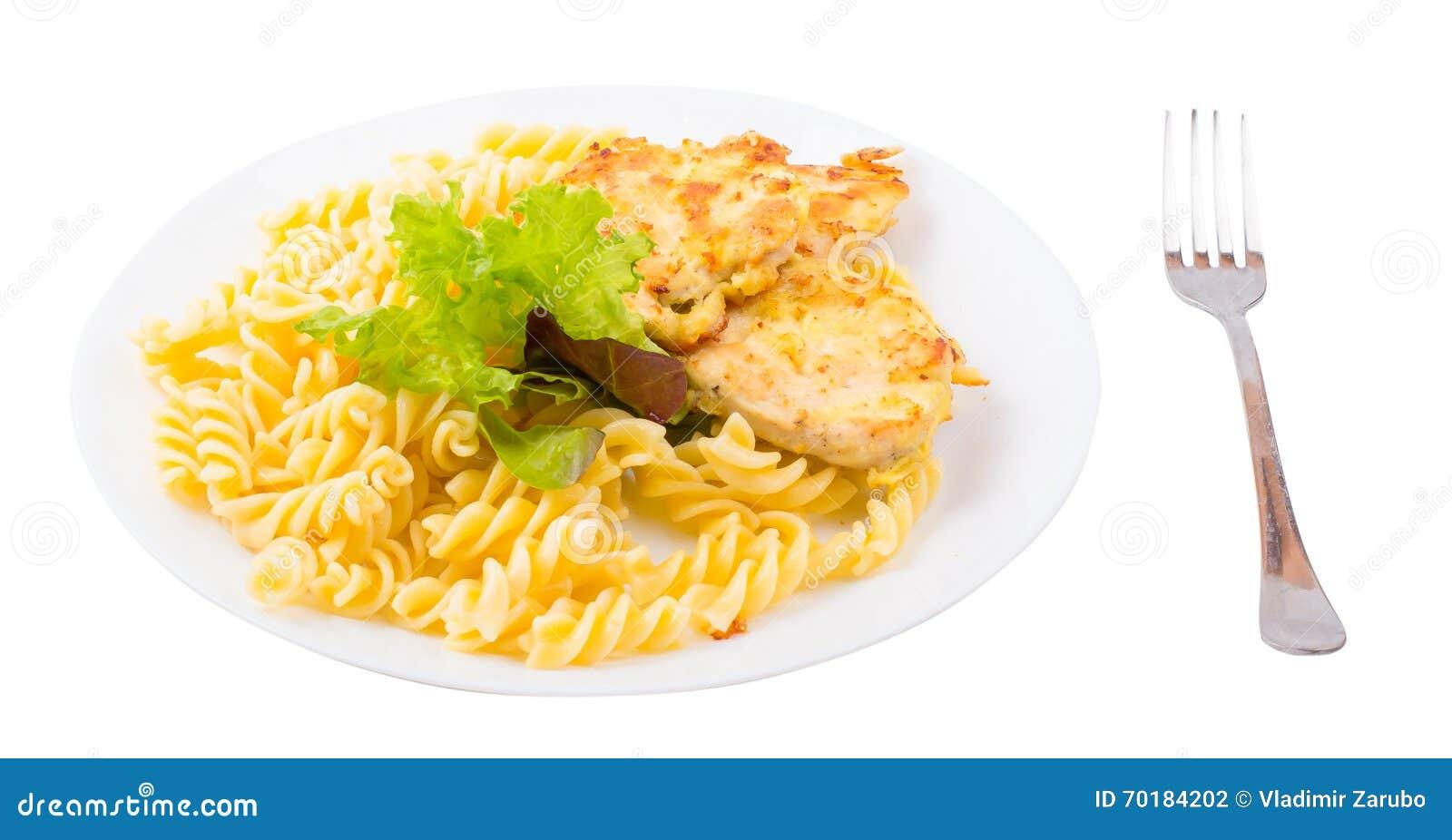 Kotletter med höna och makaroni