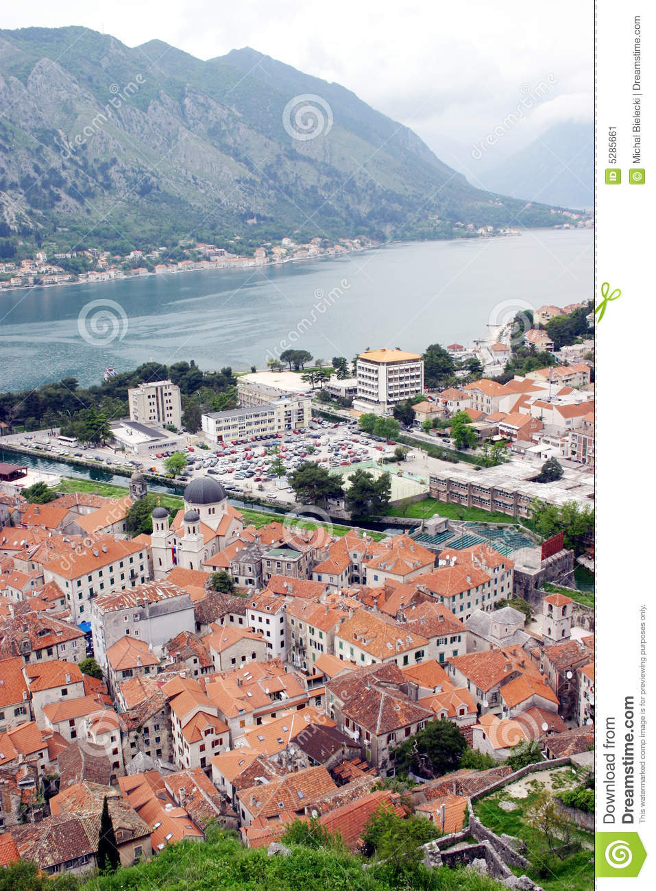 Kotor Bay And Old Town Stock Image Image 5285661