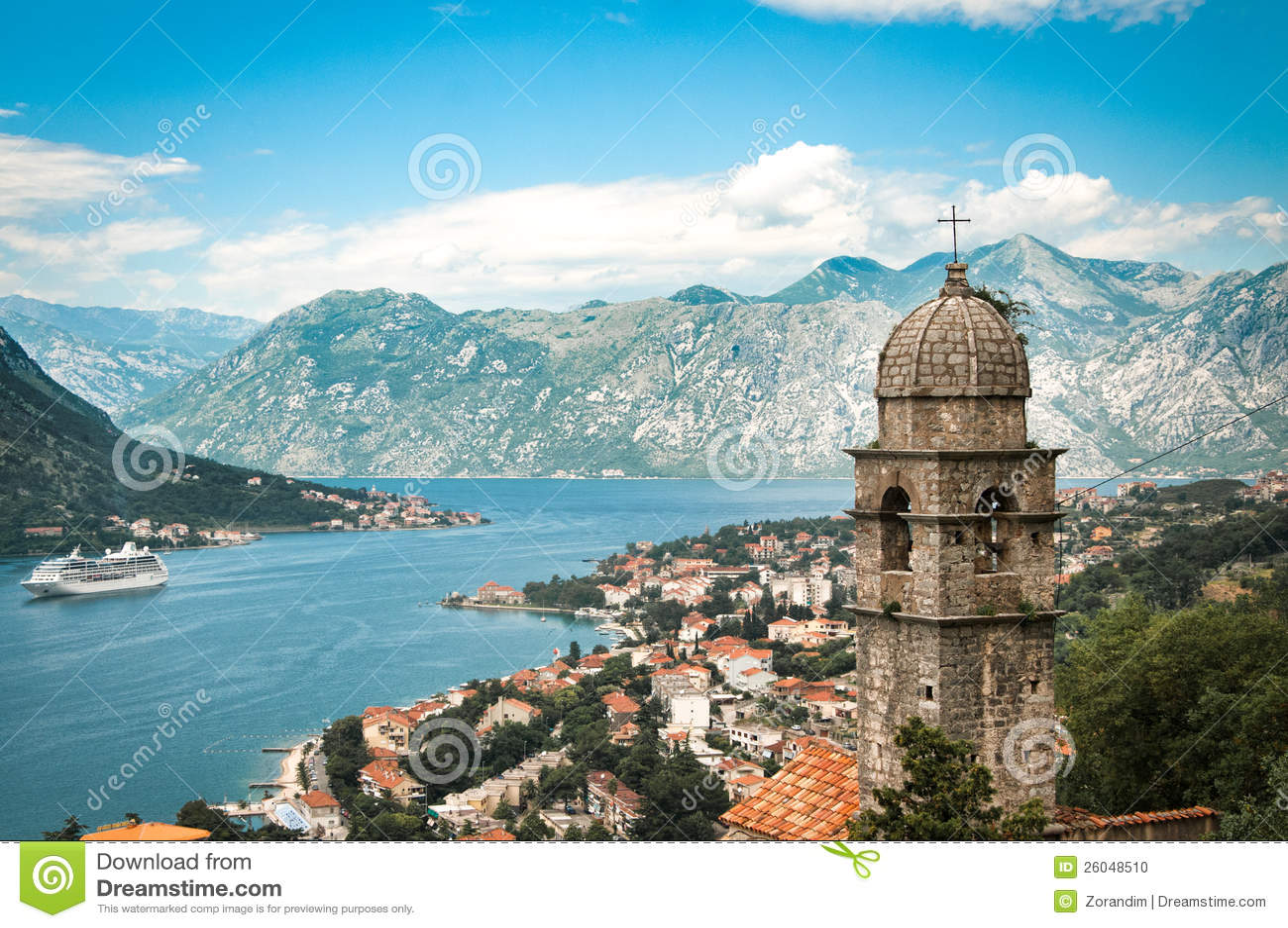 Kotor City With Montenegro Stock Photo Image 26048510