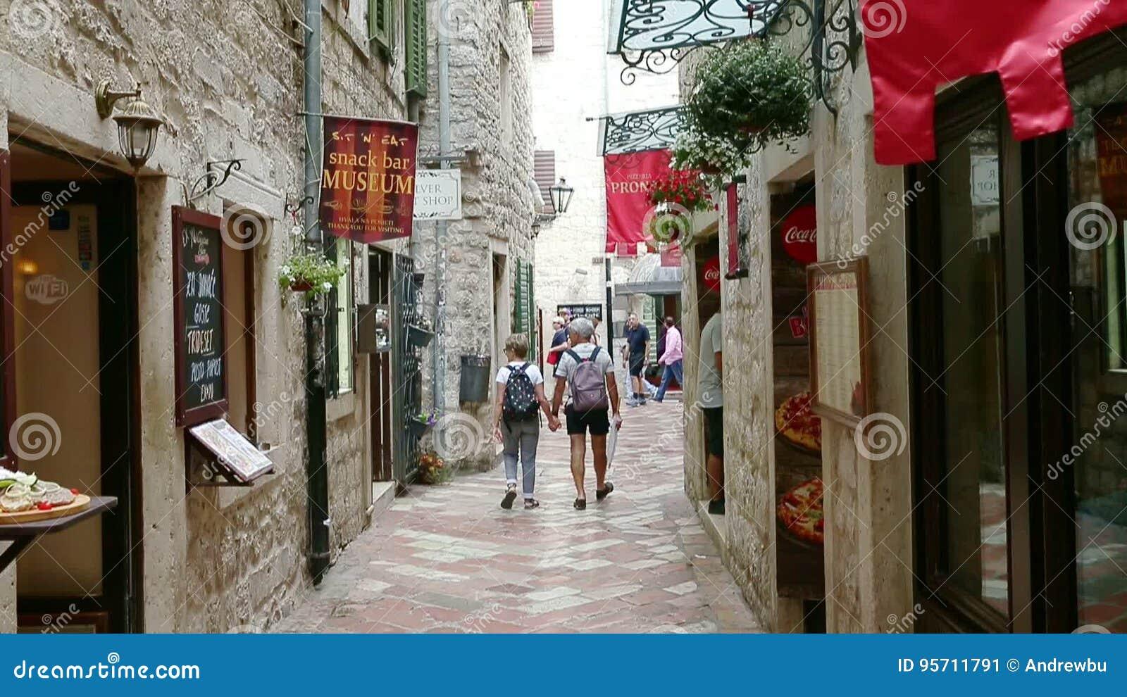 Kotor, Montenegro - 27 June, 2017  Senior Adult Couple