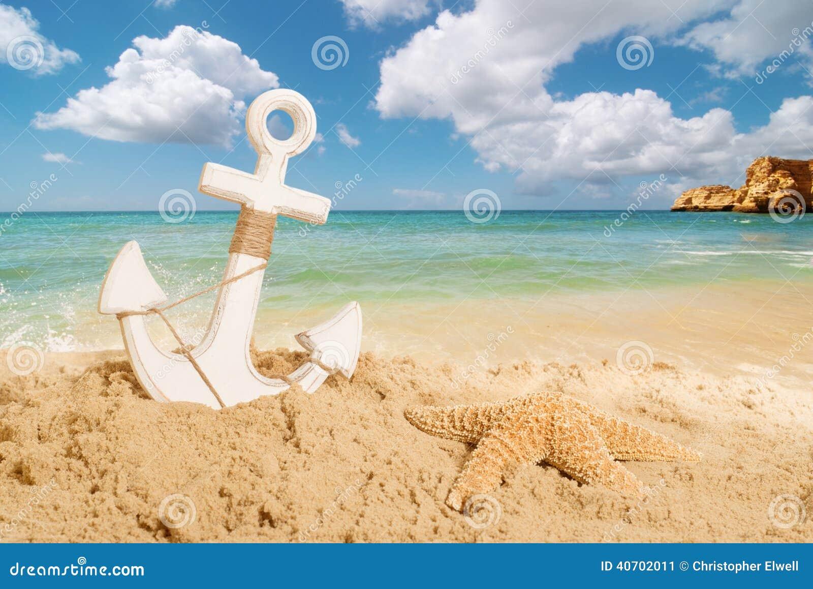 Kotwica na plaży
