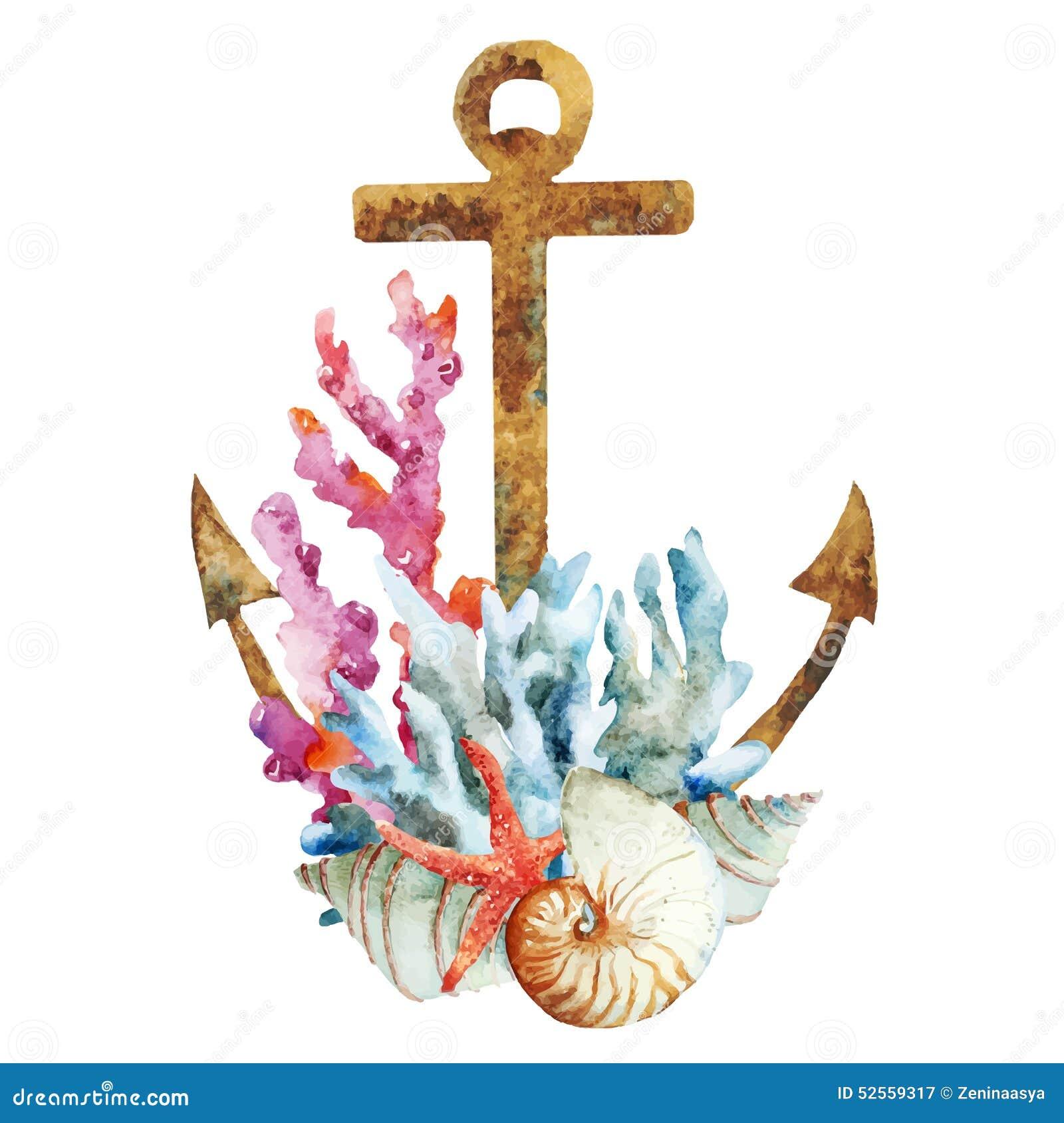 Kotwica z koralami