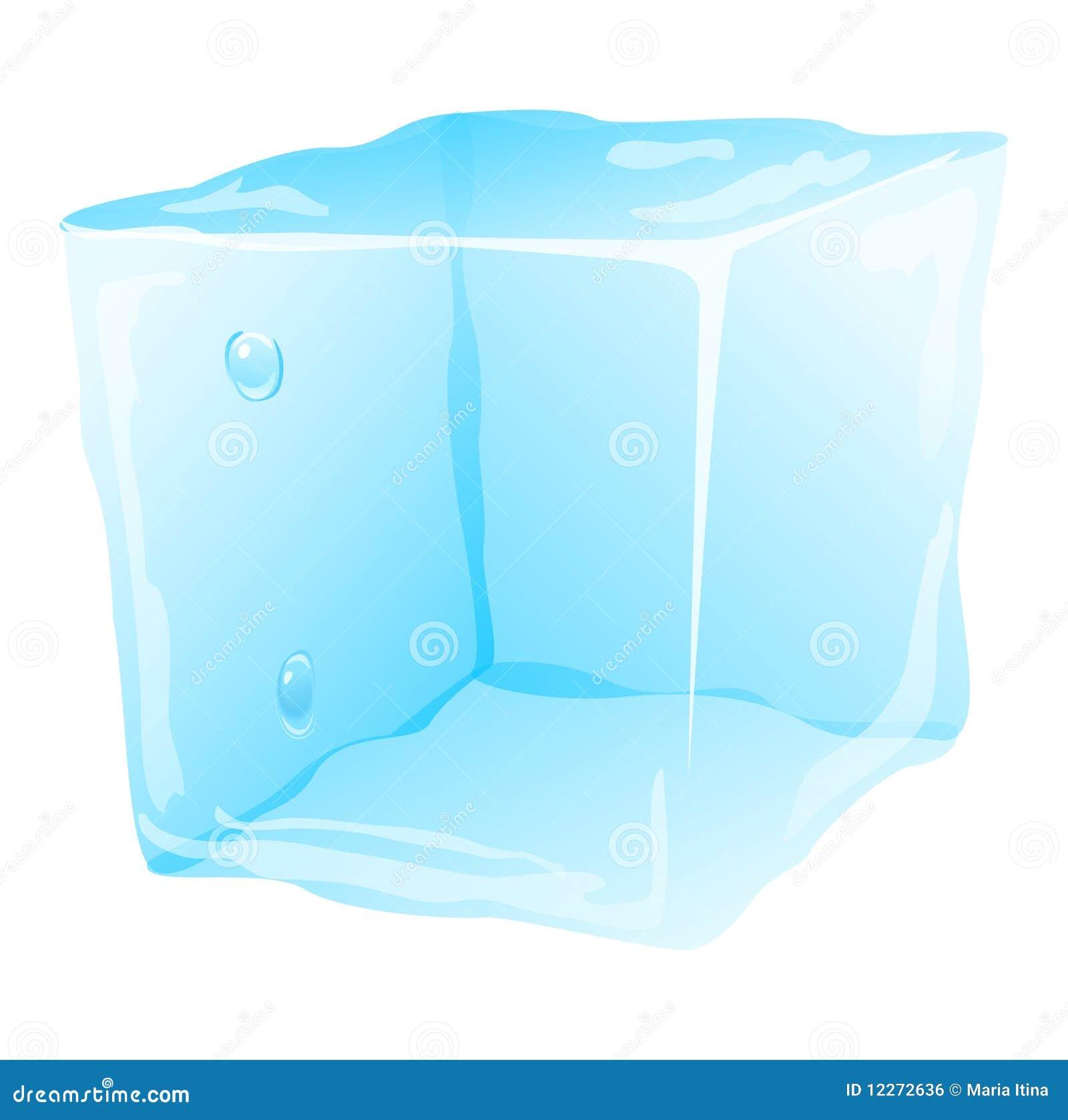 Koud ijsblokje