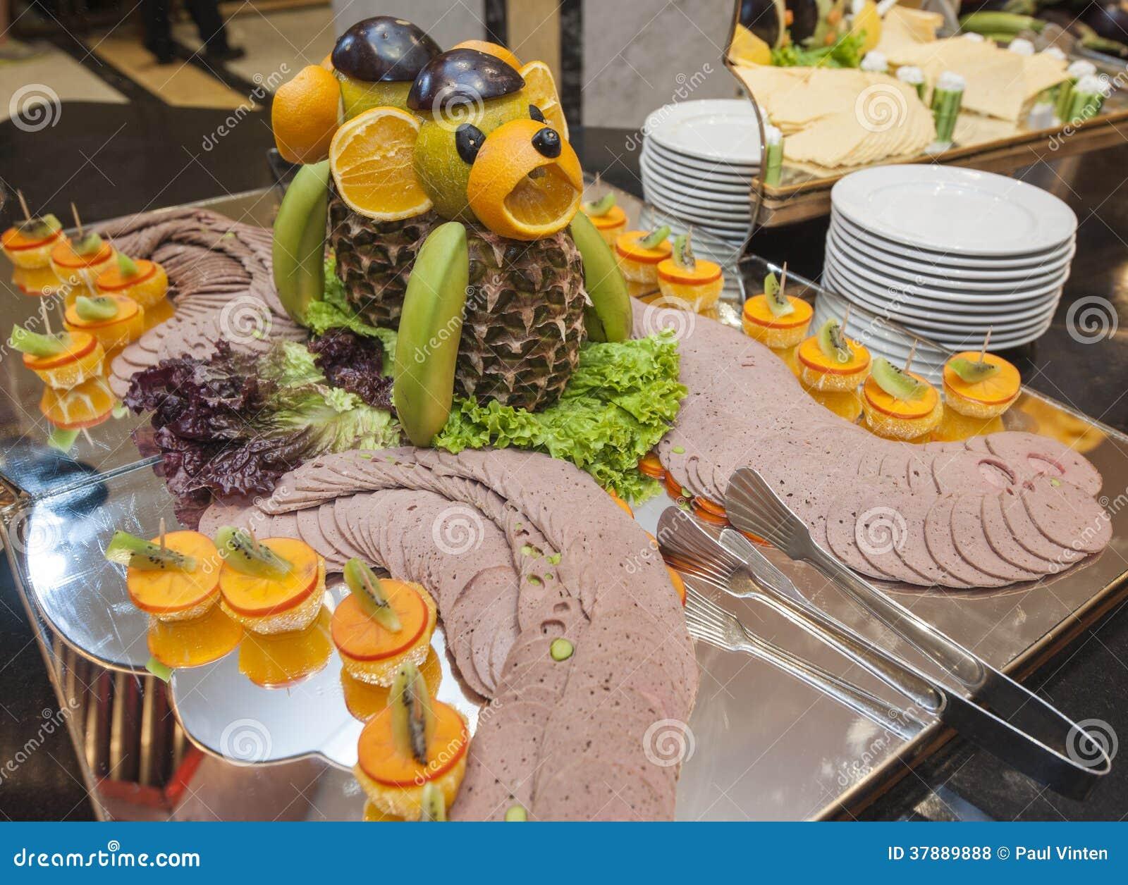 Koude vleesselectie bij een buffet