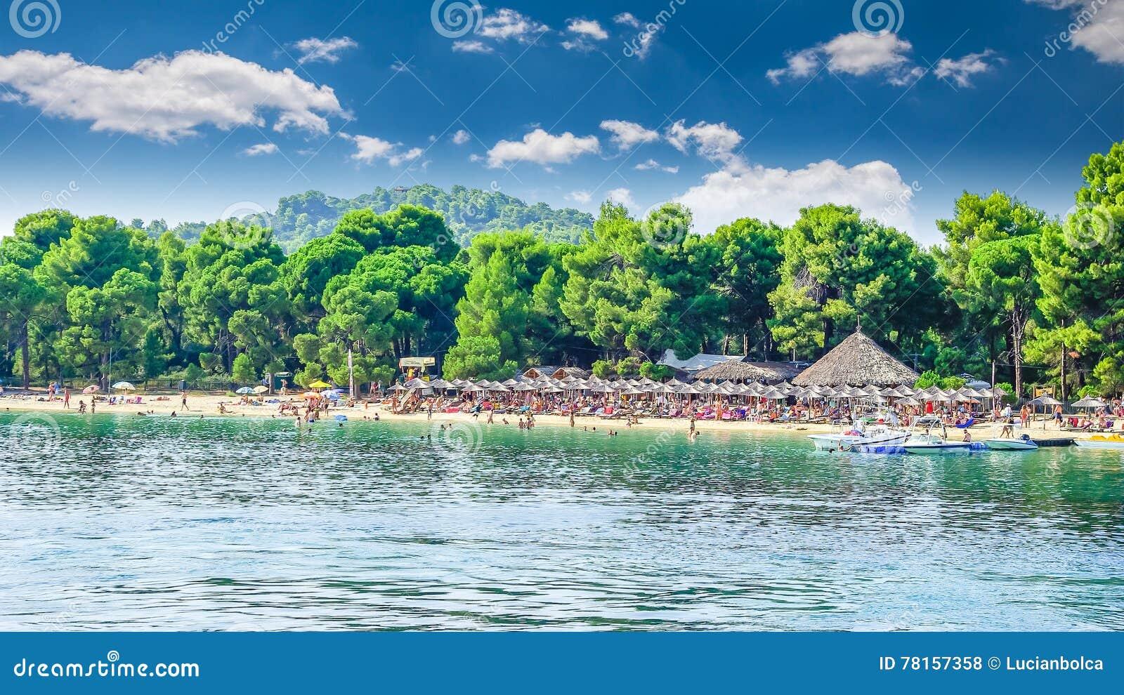 Koukounaries海滩,斯基亚索斯岛海岛,希腊
