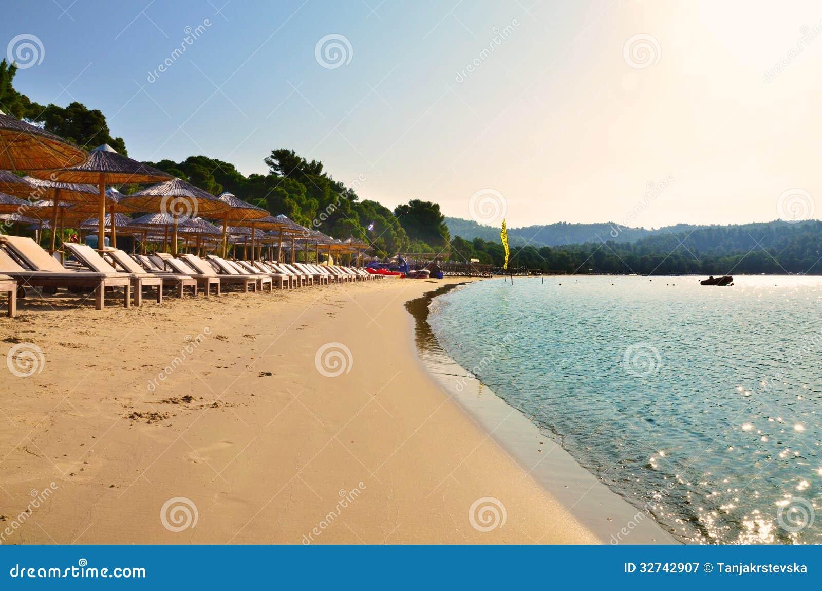 Koukounaries plaża w Skiathos, Grecja