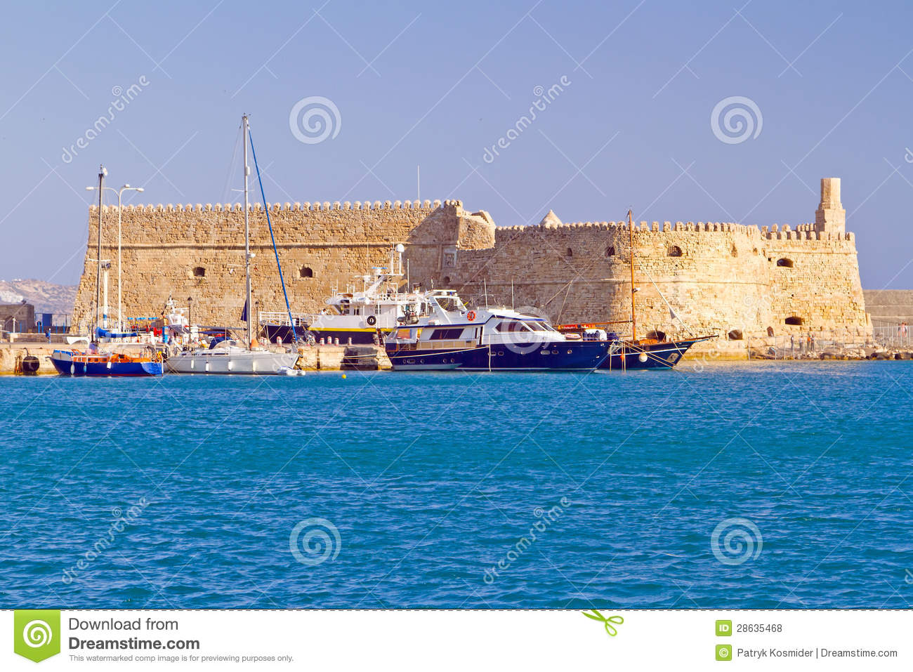 Koules Fortress In Heraklion Royalty Free Stock Photos ...