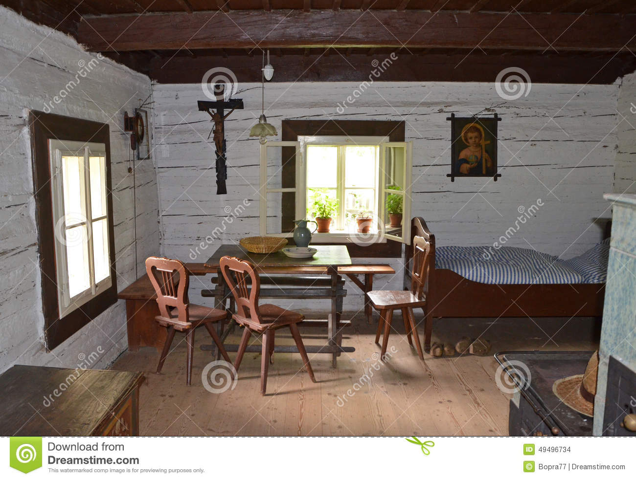 Kourim may 24 interior of traditional village house for Traditional house interior