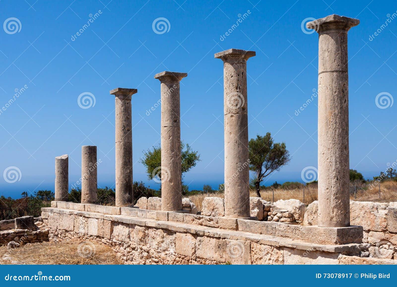 KOURION, CYPRUS/GREECE - 24 JUILLET : Temple d Apollo près de Kourion