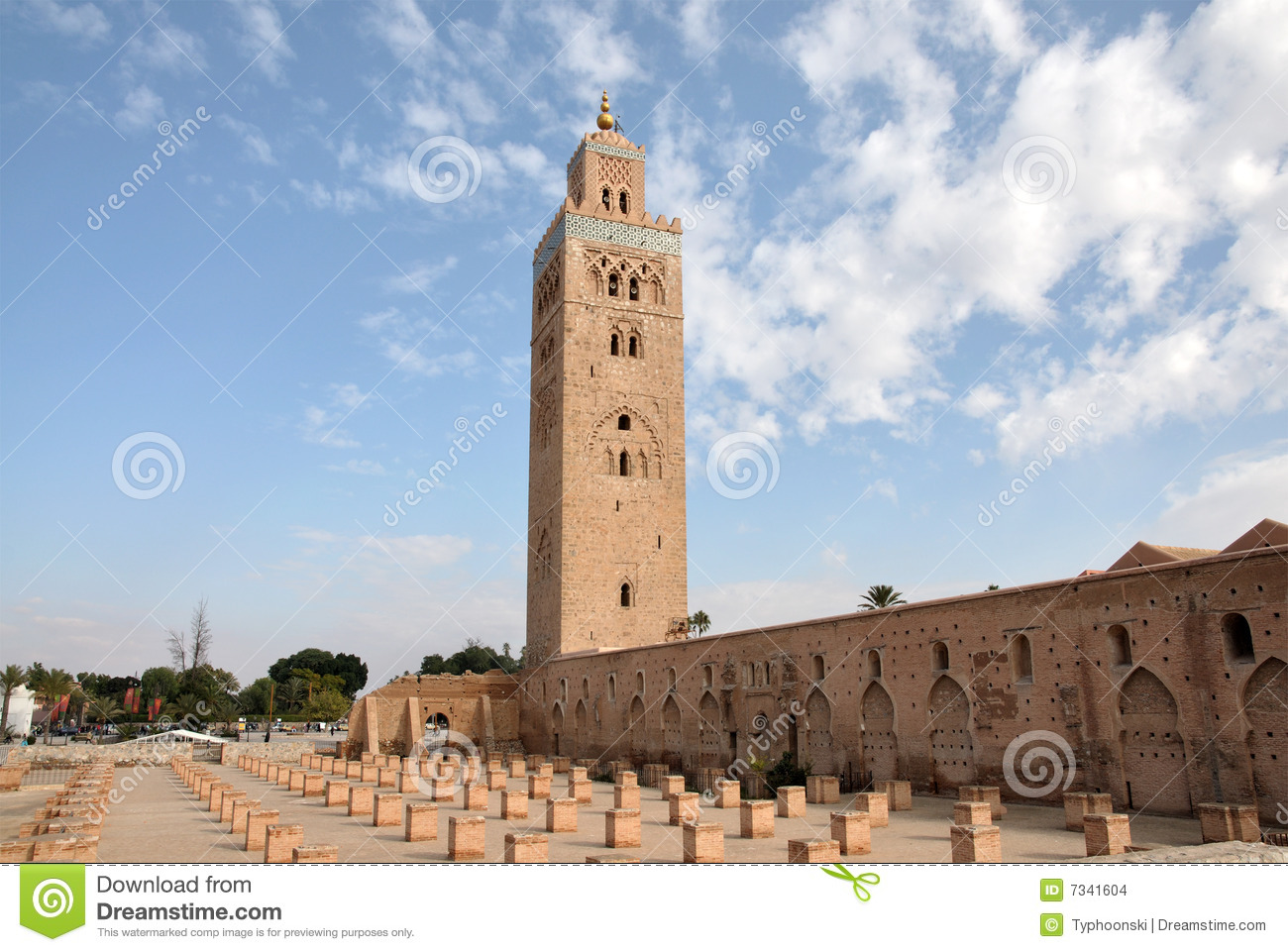 koutoubia mosque in marrakech stock images image 7341604. Black Bedroom Furniture Sets. Home Design Ideas
