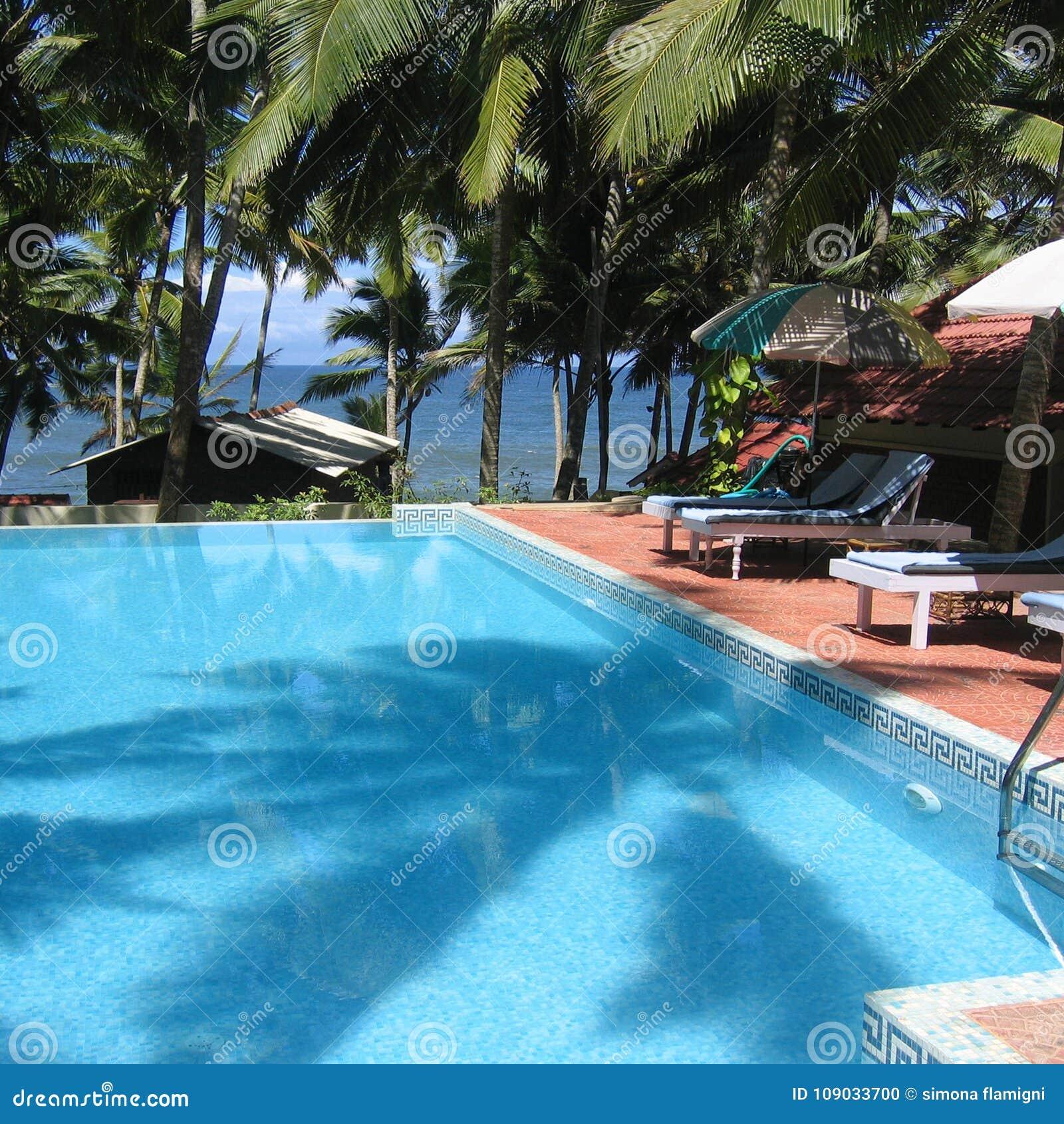 Swimming pool in Kovalam