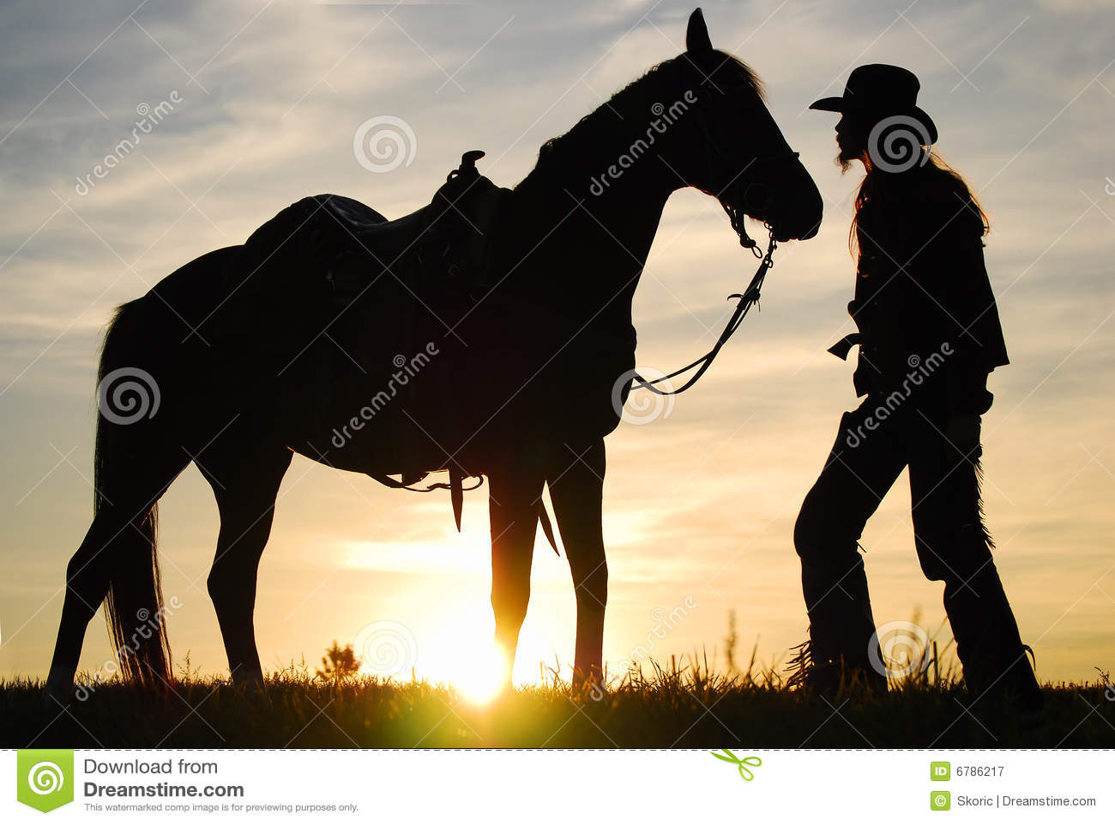 Kowboj jego koń