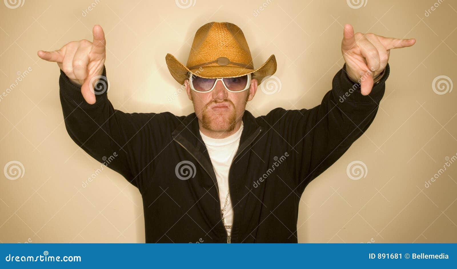 Kowboj ręce do góry
