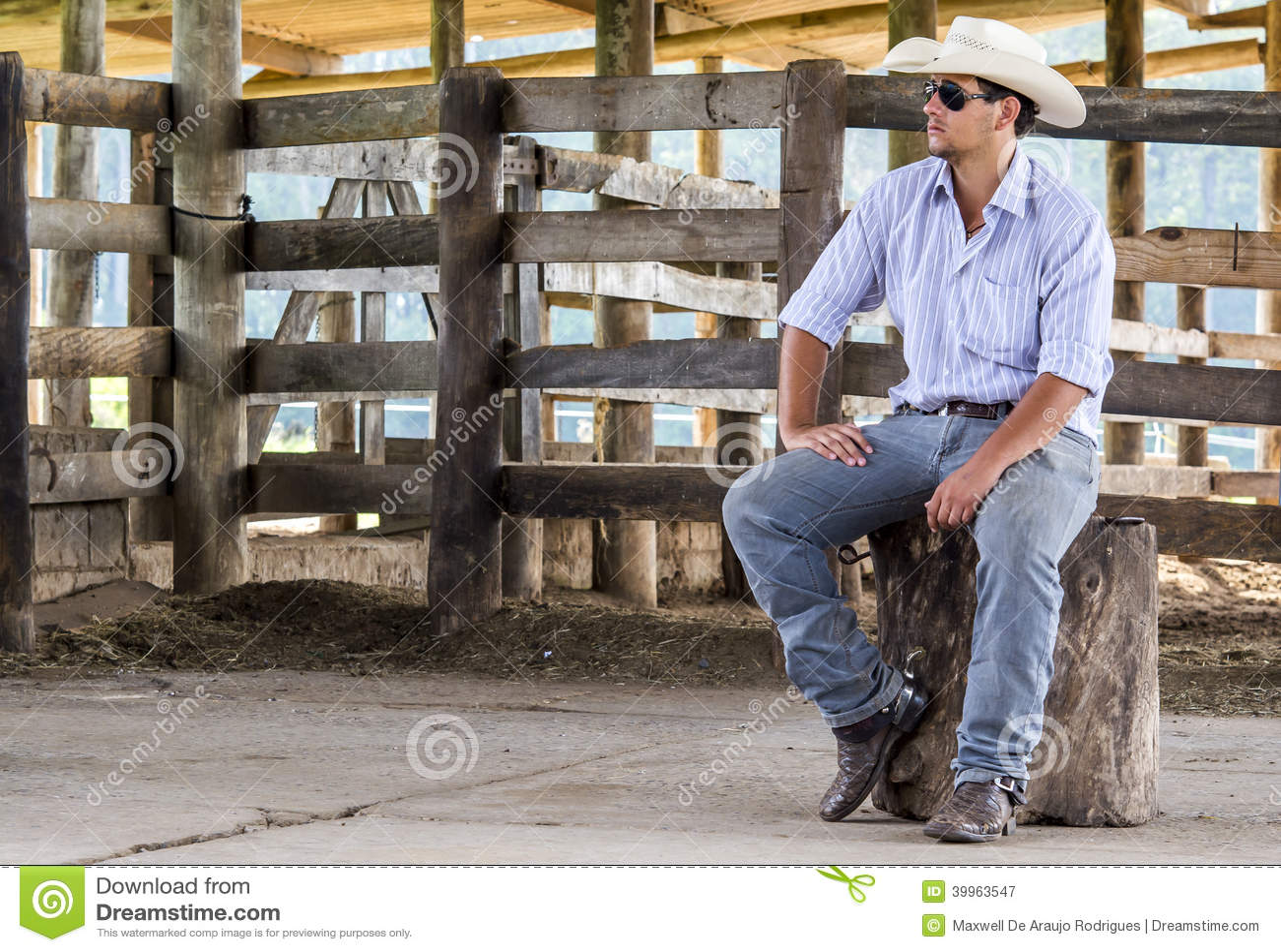 Kowboj sadzający