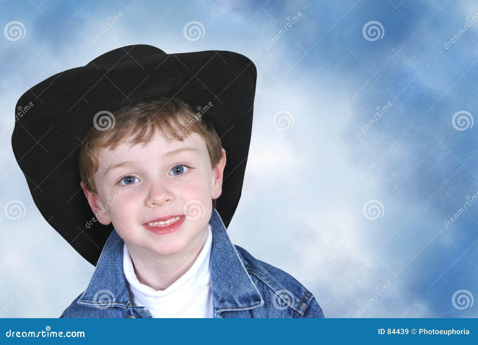 Kowbojska drelichowa czarnej chłopcy hat kurtka