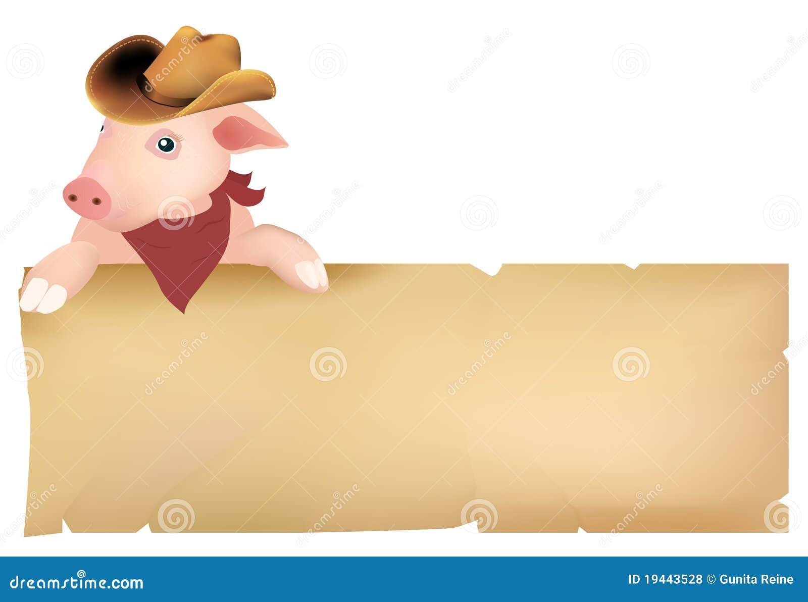 Kowbojski kapelusz świnia