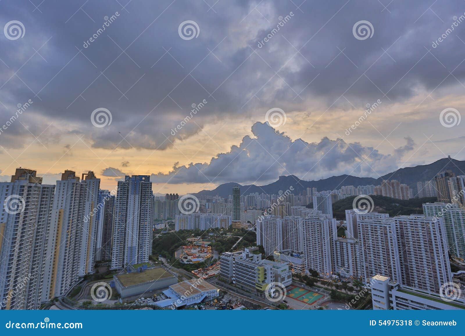 Kowloon sida i Hong Kong