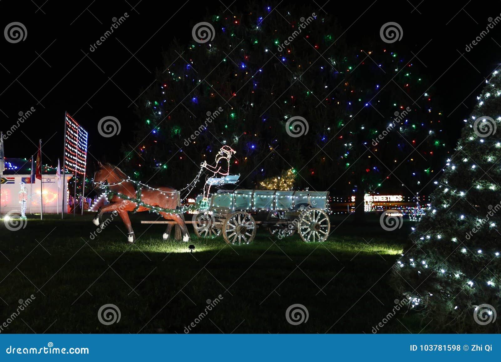 Christmas Village Pa.Koziar S Christmas Village Light Show Editorial Stock Photo