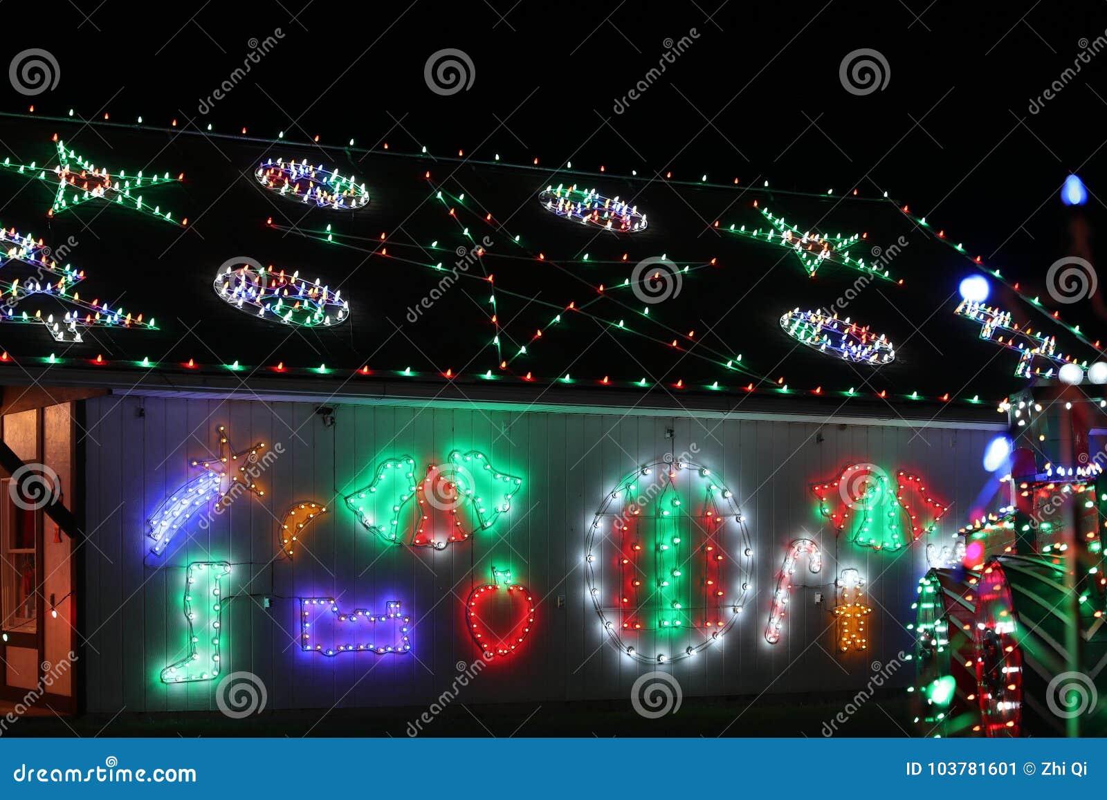 koziars christmas village light show in bernville pa usa on november 12 2017 - Bernville Christmas Village