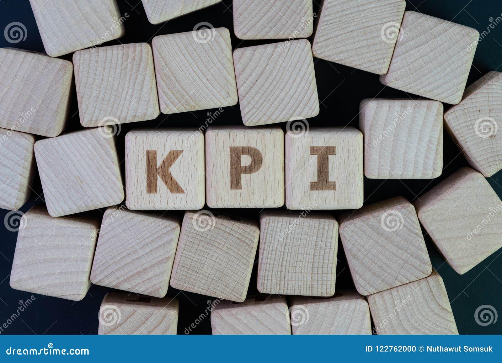 KPI, blanco de la medida del éxito empresarial del indicador del punto clave y