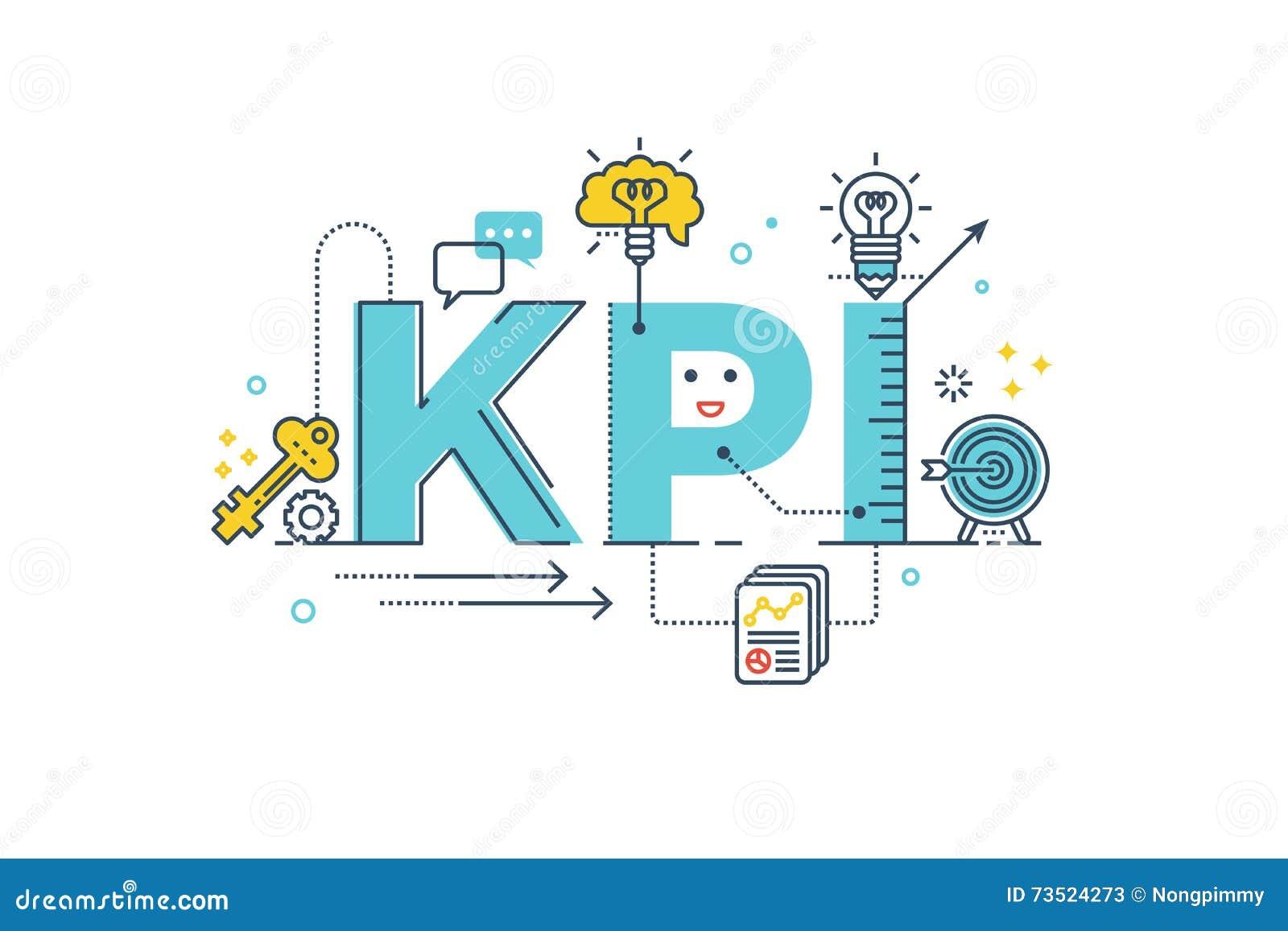 key performance indicator vector illustration