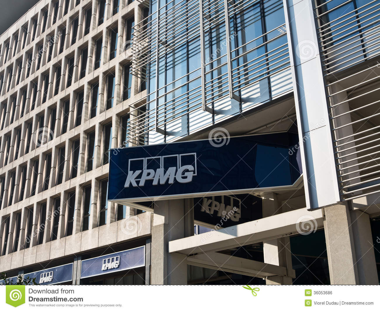 Kpmg offices editorial photo image of banner modern for Firm company