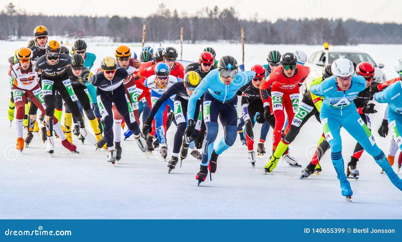 KPN Grand Prix dans Lulea, Suède, 2019 Groupe de patinage de glace des hommes