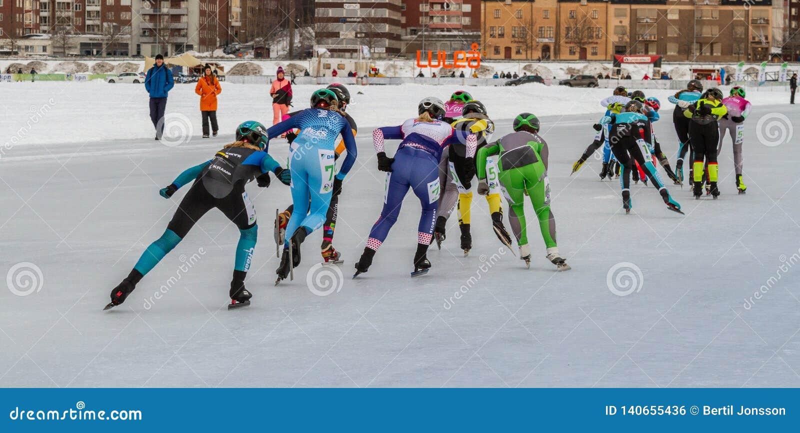 KPN Grand Prix dans Lulea, Suède, 2019 Groupe de patinage de glace de femmes