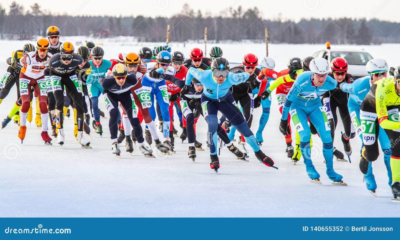 KPN Grand Prix dans Lulea, Suède, 2019 Le groupe des hommes concurrencent