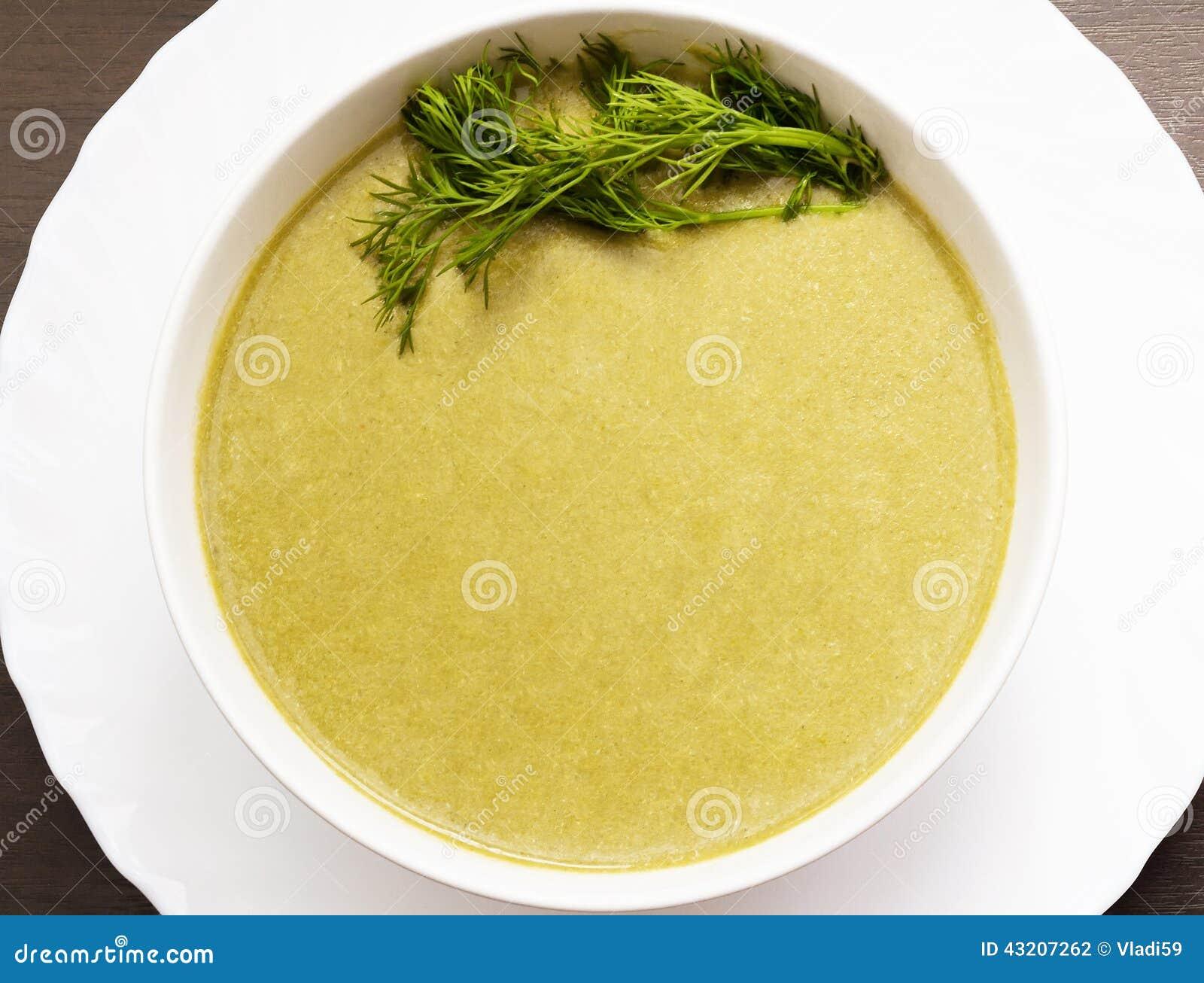 Download Kräm- Soup med spenat arkivfoto. Bild av lunch, smaktillsats - 43207262