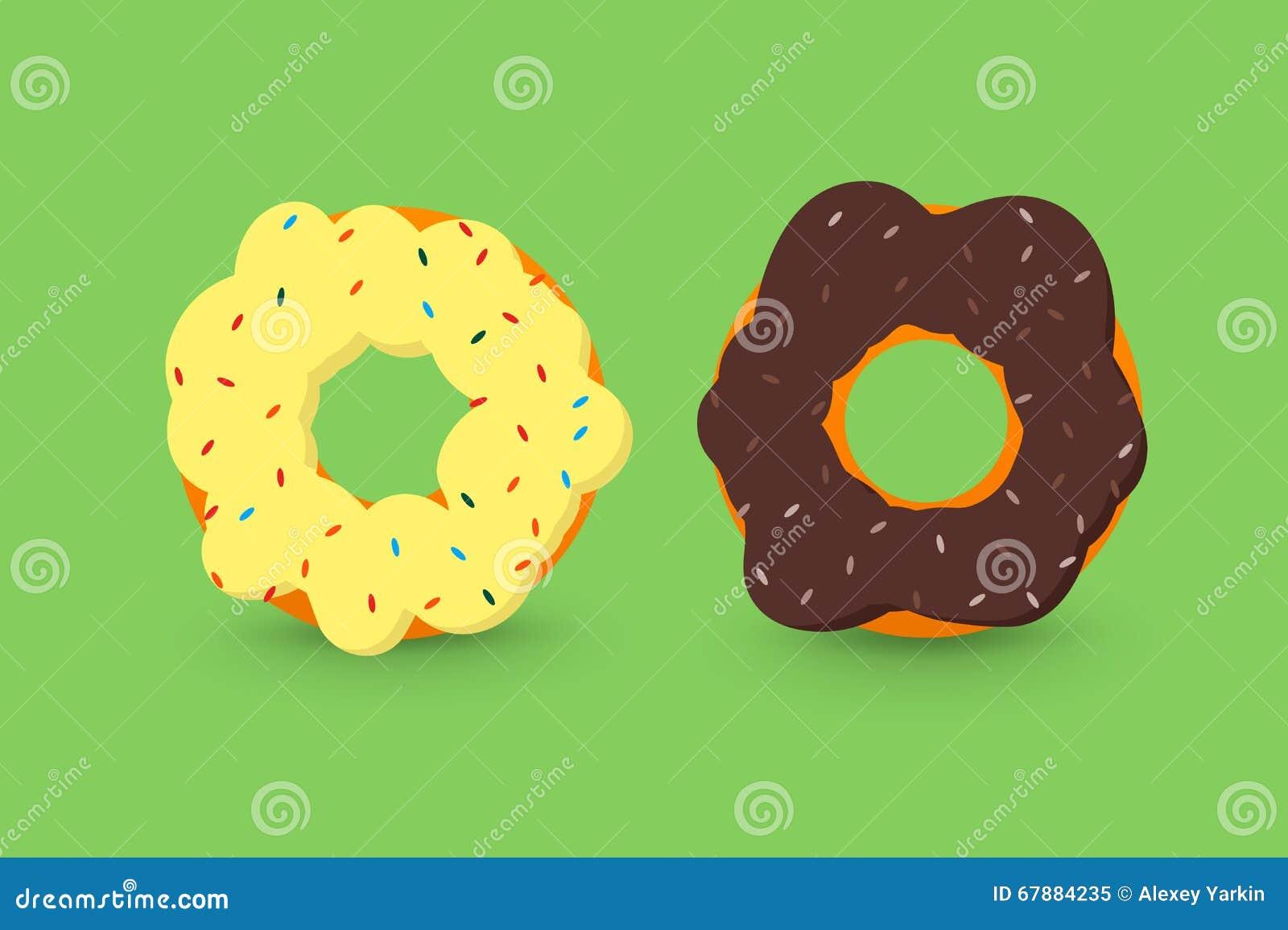 Krämiga och chokladdonuts