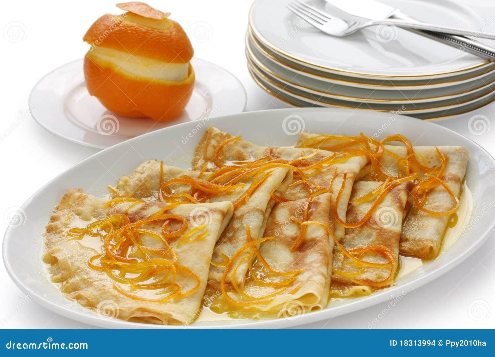 Kräuselt suzette, französischen Nachtisch