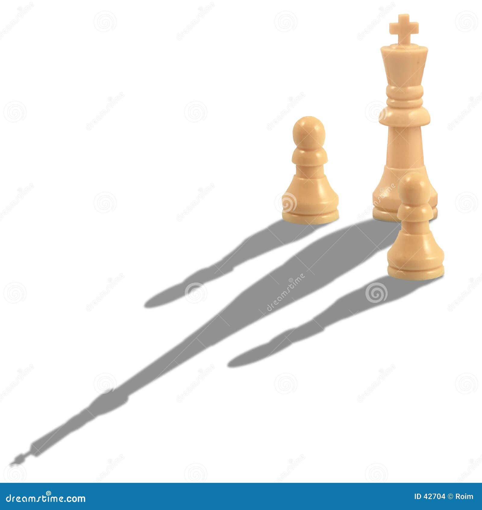 Król szachowi pionka kawałki