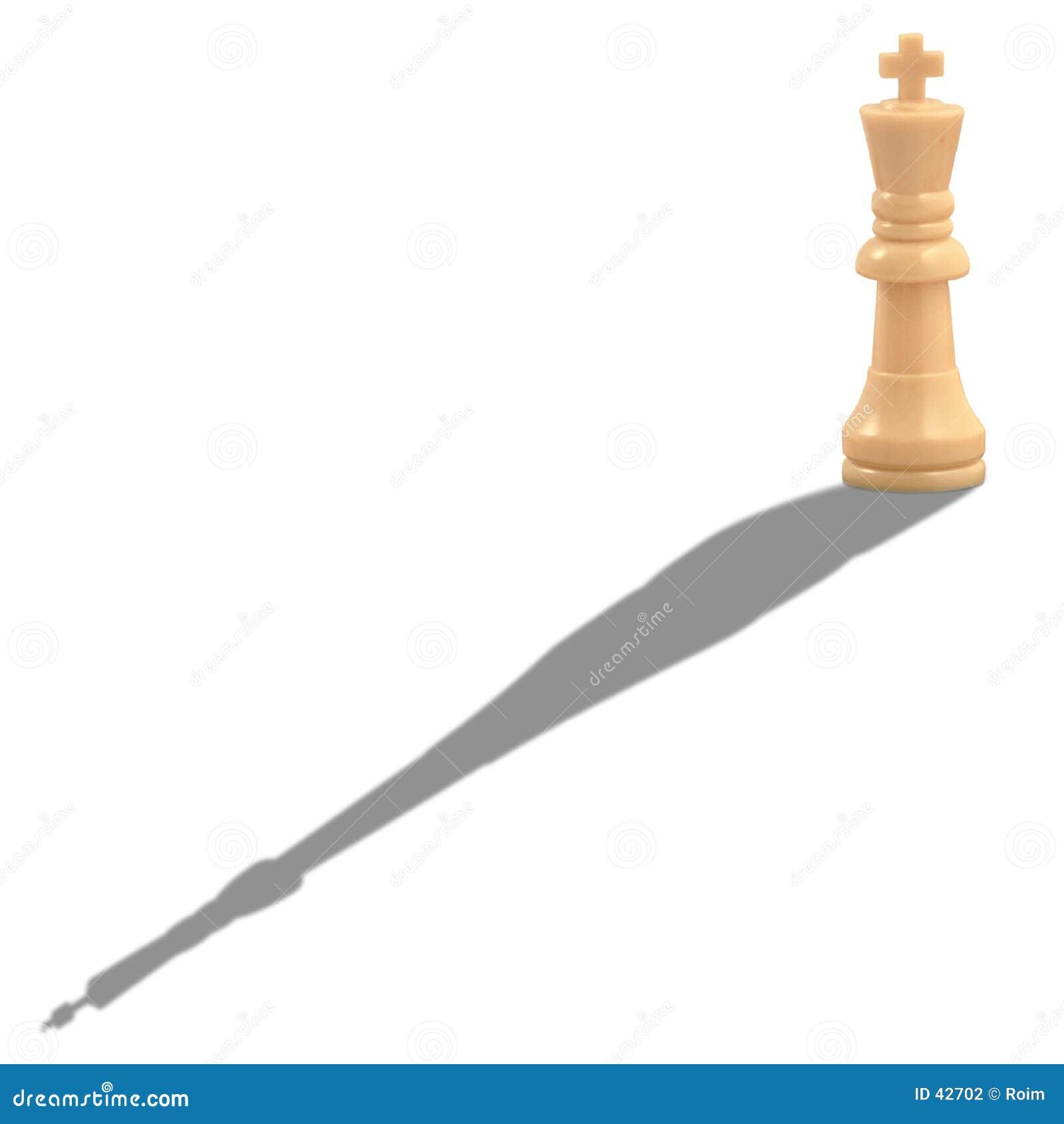 Król szachowy white