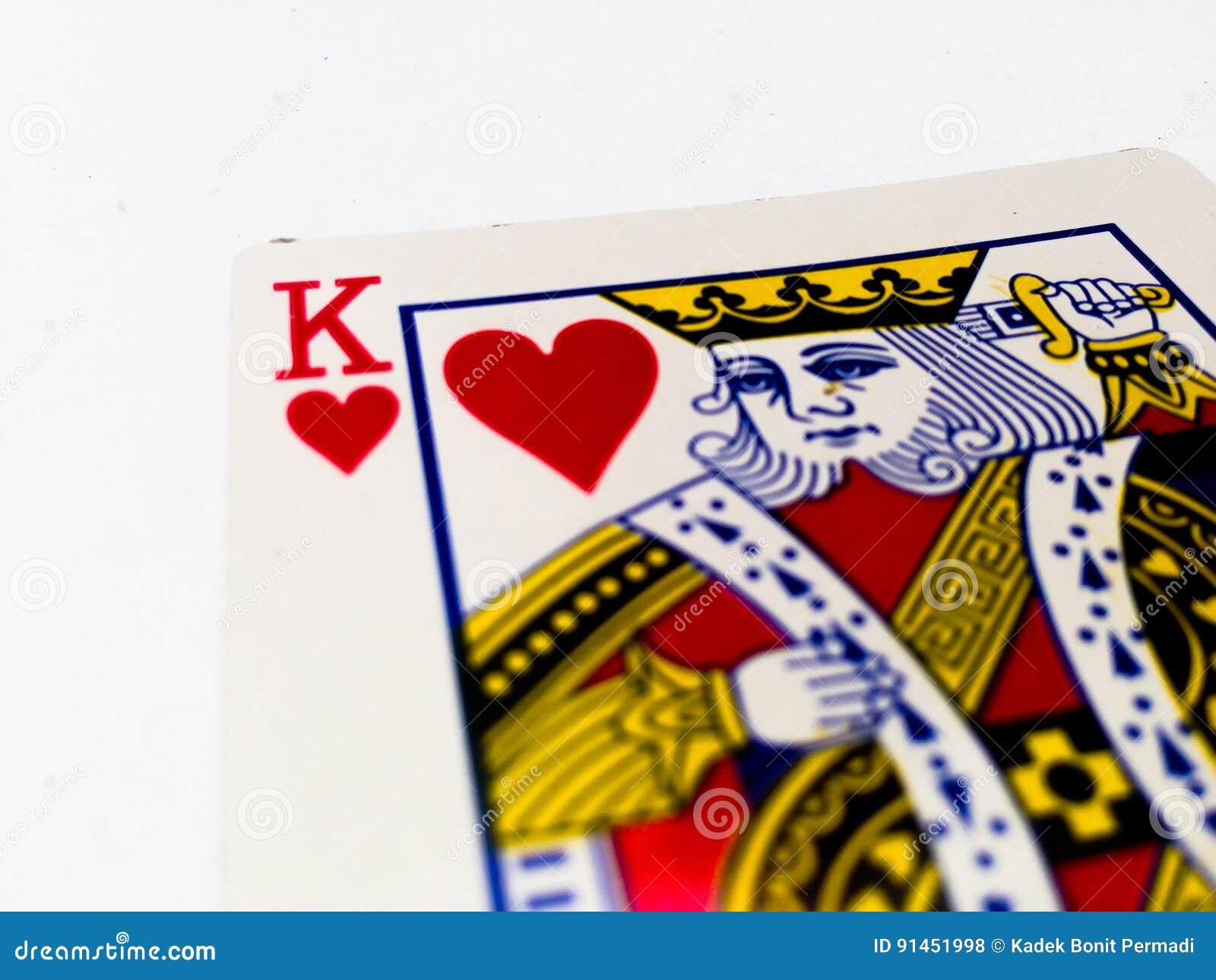 Królewiątek serc karta z Białym tłem