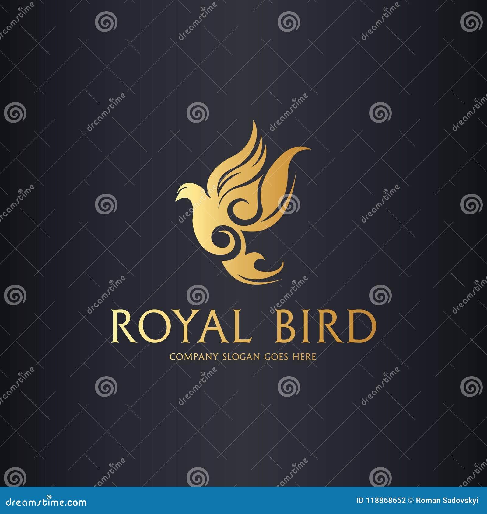 Królewski gołąbka logo