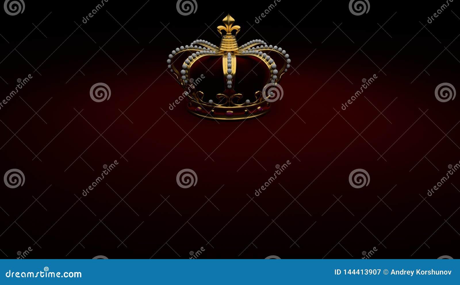 Królewski Złocisty korony tła królewiątko